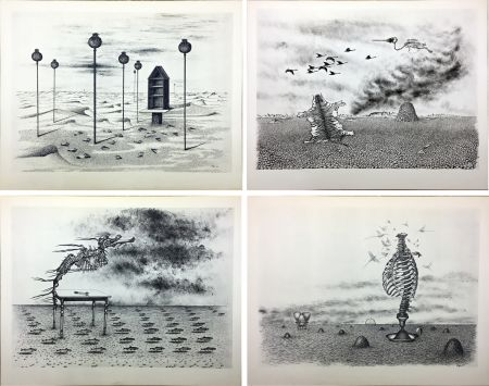 Illustriertes Buch Toyen - Jindrich Heisler : CACHE-TOI GUERRE ! Poème. Cycle de 9 dessins de Toyen de 1944