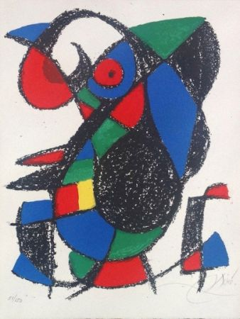 Lithographie Miró - Joan Miro Original lithograph, Pencil Signed & numbered 51 / 150