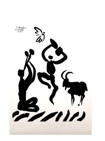 Lithographie Picasso (After) - Joueur de Flûte