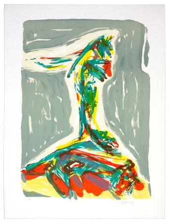 Lithographie Jorn - Jubilation Larmoyennageuse