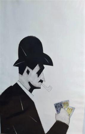 Radierung Valdés - Jugador de cartas