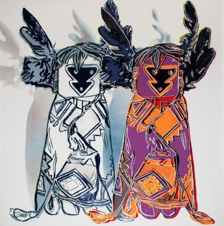 Siebdruck Warhol - Kachina Dolls (FS II.381)