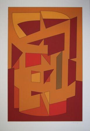 Lithographie Vasarely - KALLION - Gordes-Cristal periode