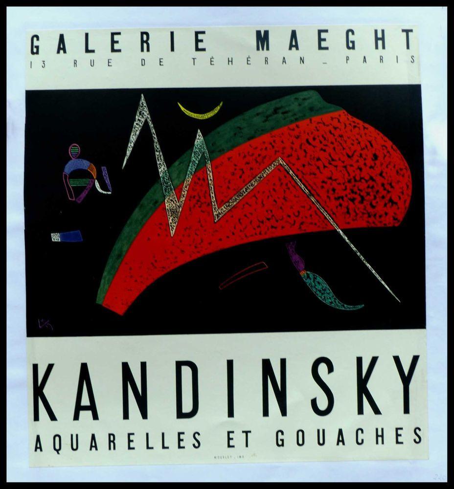 Plakat Kandinsky - KANDINSKY GALERIE MAEGHT AQUARELLES ET GOUACHES