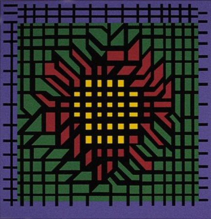 Lithographie Vasarely - Kat-Zag