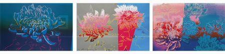 Siebdruck Warhol - Kiku Completeportfolio (Fs Ii.307-309)