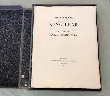 Lithographie Kokoschka - King Lear