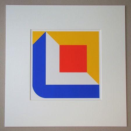 Siebdruck Pfahler - Komposition 1968