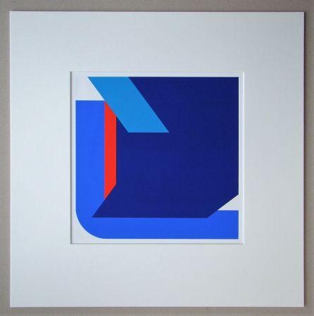 Siebdruck Pfahler - Komposition 1975