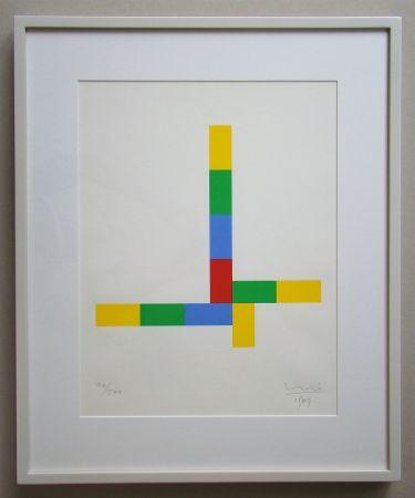 Siebdruck Bill - Konkrete Komposition - 1969