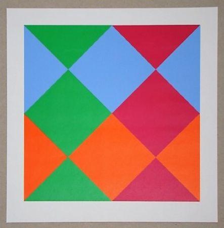 Siebdruck Bill - Konkrete Komposition, 1966