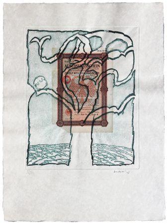 Radierung Alechinsky - Krach V.