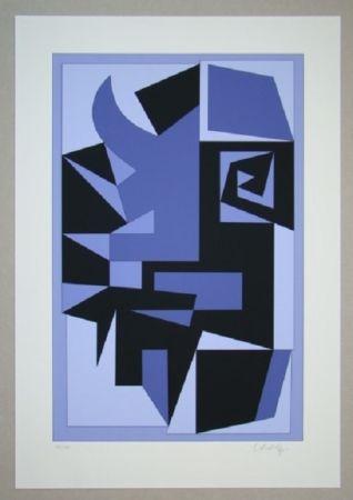 Siebdruck Vasarely - Kwartz