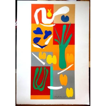 Lithographie Matisse - Légumes