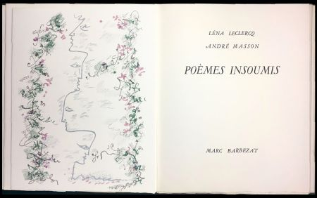 Illustriertes Buch Masson - Léna Leclercq. POÈMES INSOUMIS. 8 lithographies en couleurs (1963)