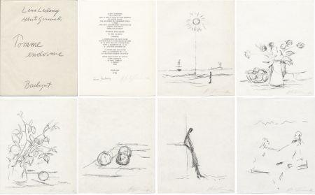 Illustriertes Buch Giacometti - Léna Leclercq : POMME ENDORMIE. Lithographies originales signées d'Alberto Giacometti.