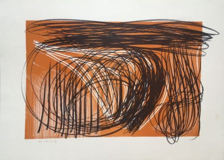 Lithographie Hartung - L 1971-1