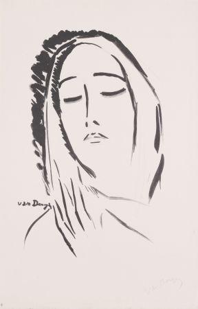 Lithographie Van Dongen - L' Echarpe