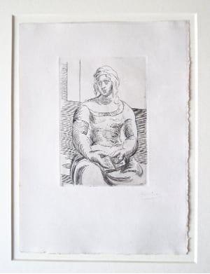 Stich Picasso -  L' Italienne (s. ta130) Femme au Livre