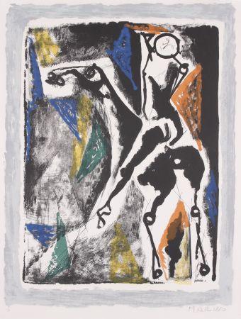 Lithographie Marini -  La Acrobata