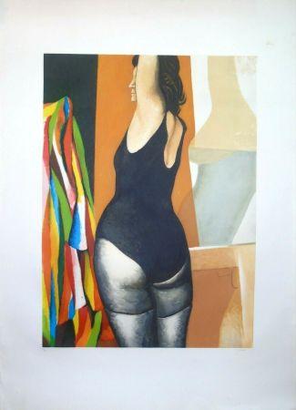 Radierung Und Aquatinta Guttuso - La ballerina