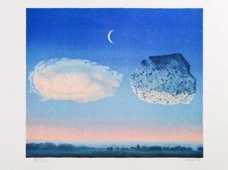 Lithographie Magritte - La Bataille de l'Argonne