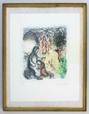 Lithographie Chagall - La benediction de Jacob (Jacob's benediction)