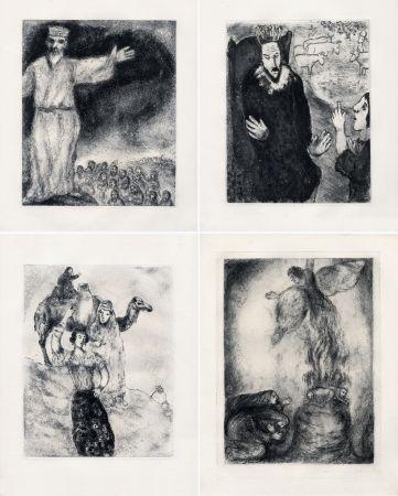 Radierung Chagall - LA BIBLE. (Suite des eaux-fortes gravées de 1931 à 1939 - Tériade 1956).