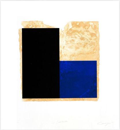 Radierung Canogar - La Bienvenida (azul)