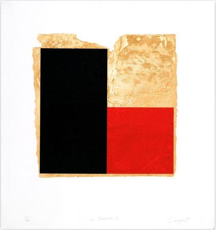 Radierung Canogar - La Bienvenida (rojo)