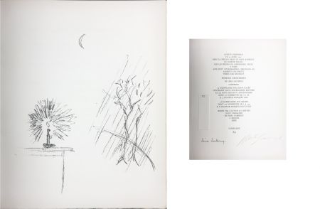 Lithographie Giacometti - LA BOUGIE (The candle). 1961. Lithographie originale