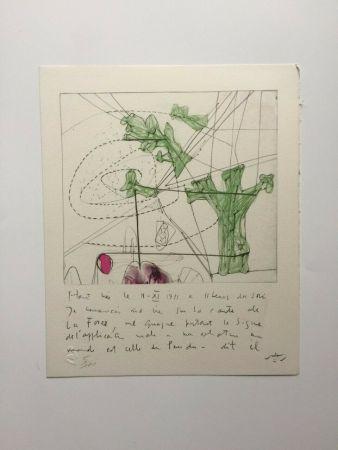 Lithographie Matta - La carte de la force (from Morfolgie Verbali)