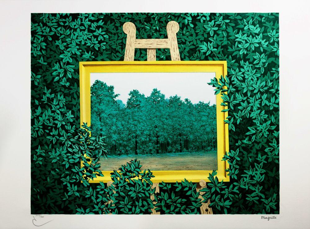 Lithographie Magritte - La Cascade