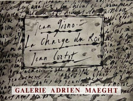Lithographie Cortot - La Charge du Roi