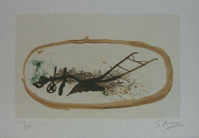 Lithographie Braque - La Charrue (el arado)
