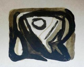 Lithographie Van Velde - La chose