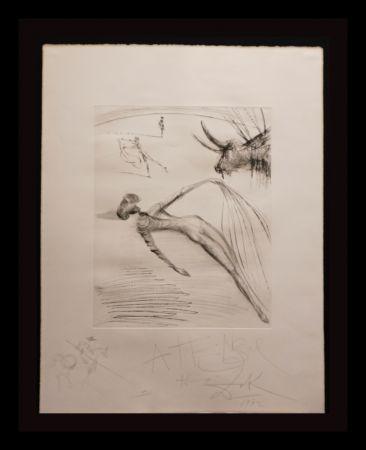 Stich Dali - La Cogida y la Muerte with Original Drawing