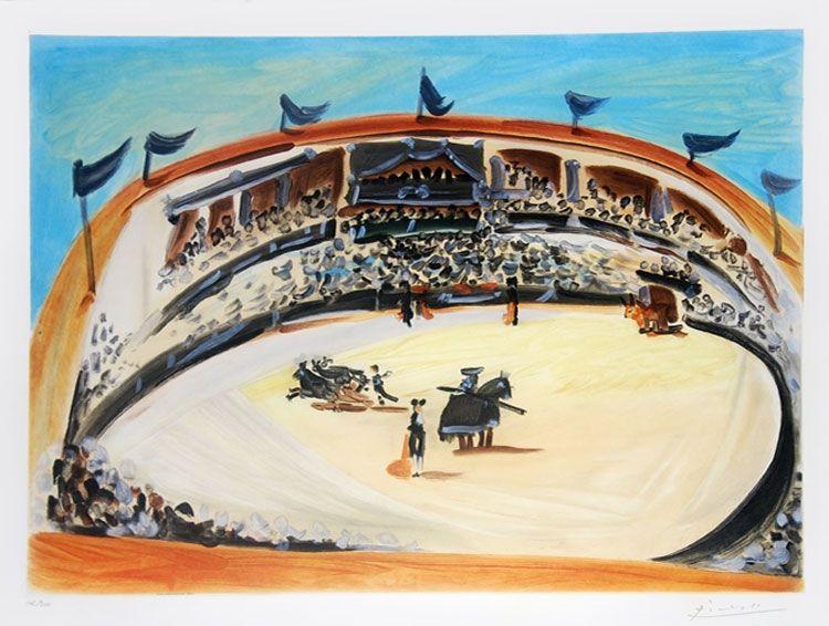 Aquatinta Picasso (After) - La corrida