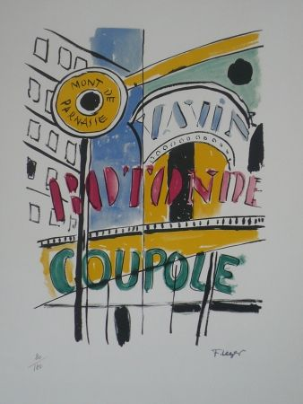 Lithographie Leger - La Coupole