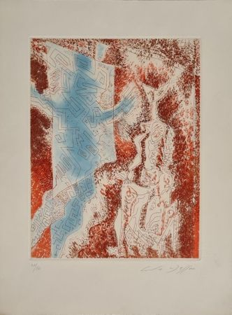 Radierung Und Aquatinta Masson - La Dame au labyrinthe