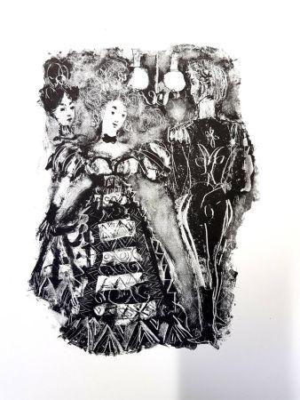 Lithographie Clavé - La Dame de Pique de Pouchkine
