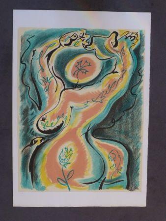 Lithographie Masson - La danse