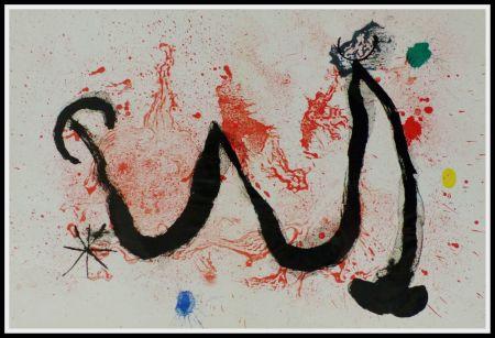 Lithographie Miró (After) - LA DANSE DU FEU