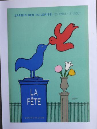 Plakat Savignac - La fête au jardin des Tuileries