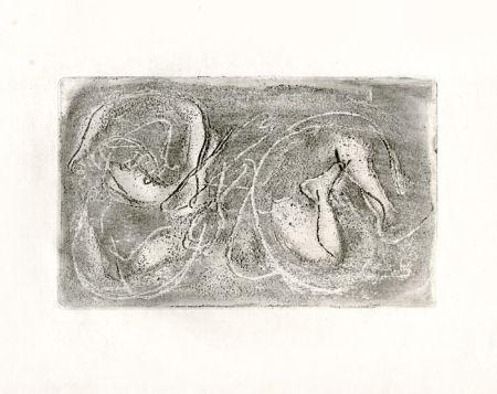 Radierung Fautrier - La femme morte (Fautrier l'enragé)