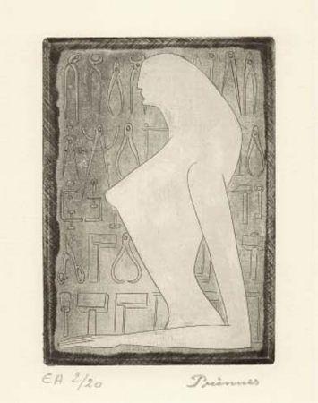 Radierung Prinner - La Femme tondue.