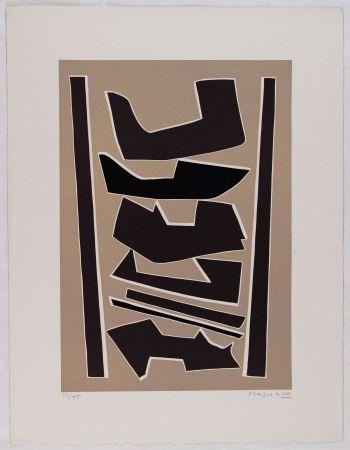 Linolschnitt Magnelli - La Ferrage III