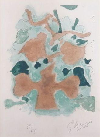 Lithographie Braque - La Forêt