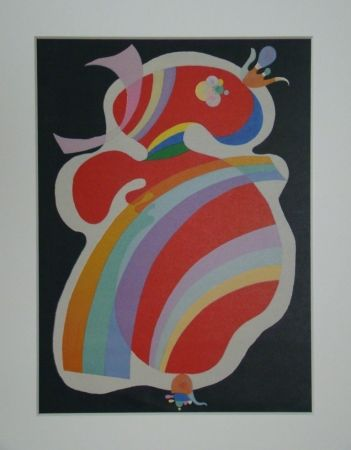 Lithographie Kandinsky - La forme rouge, 1938