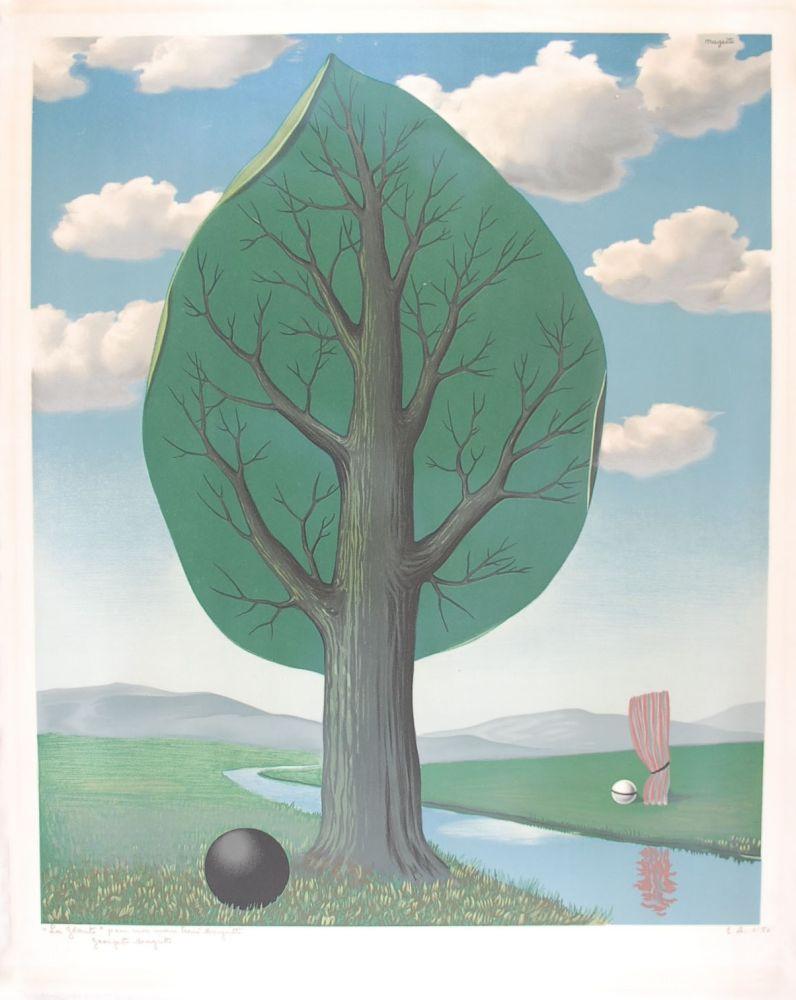 Lithographie Magritte - La Géante